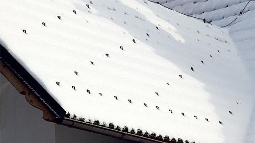 Sněhové háky v zimě