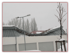Špatná montáž sněhových zábran